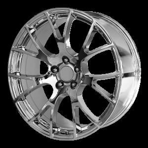 20x10 5x115 OE Creations Replica Wheels PR161 Chrome 18 offset 71.5 hub