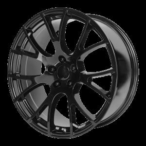 20x10 5x115 OE Creations Replica Wheels PR161 Gloss Black 18 offset 71.5 hub