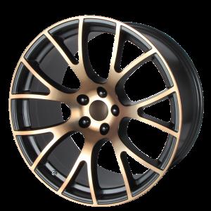 20x10 5x115 OE Creations Replica Wheels PR161 Black Bronze 18 offset 71.5 hub