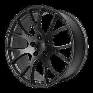 20x10 5x115 OE Creations Replica Wheels PR161 Matte Black 18 offset 71.5 hub