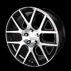 20x9 5x115 OE Creations Replica Wheels PR163 Gloss Black Machined 20 offset 71.5 hub