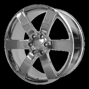 20x8 6x127 OE Creations Replica Wheels PR165 Chrome 45 offset 78.3 hub