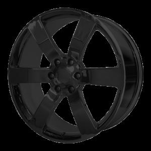 20x8 6x127 OE Creations Replica Wheels PR165 Gloss Black 45 offset 78.3 hub