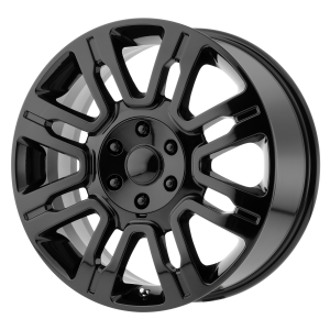 20x8.5 6x135 OE Creations Replica Wheels PR167 Gloss Black 44 offset 87.1 hub