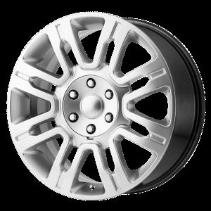 20x8.5 6x135 OE Creations Replica Wheels PR167 Hyper Silver 44 offset 87.1 hub