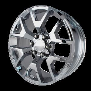 20x9 6x139.7 OE Creations Replica Wheels PR169 Chrome 27 offset 78.3 hub