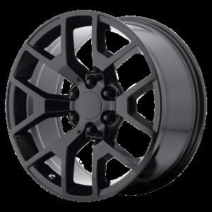 20x9 6x139.7 OE Creations Replica Wheels PR169 Gloss Black 27 offset 78.3 hub