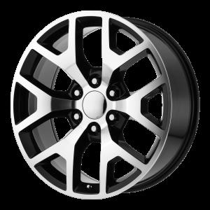 20x9 6x139.7 OE Creations Replica Wheels PR169 Gloss Black With Machined Spokes 27 offset 78.3 hub