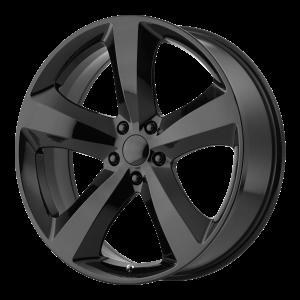 20x8 5x115 OE Creations Replica Wheels PR170 Gloss Black 24 offset 71.5 hub