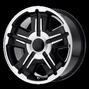 18x8 6x139.7 OE Creations Replica Wheels PR173 Gloss Black Machined 30 offset 78.3 hub
