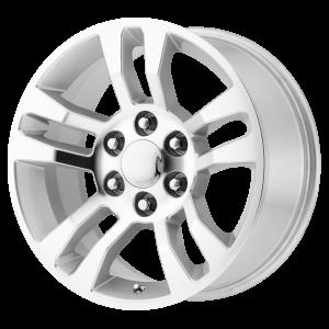 18x8 6x139.7 OE Creations Replica Wheels PR175 Silver Machined 24 offset 78.3 hub