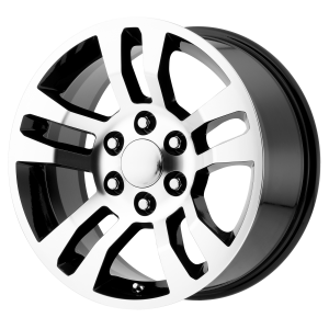 18x8 6x139.7 OE Creations Replica Wheels PR175 Gloss Black Machined 24 offset 78.3 hub