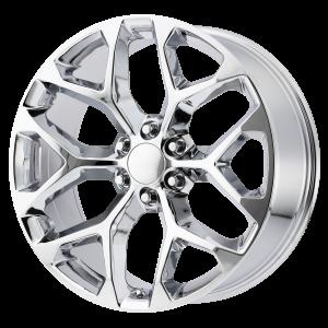 20x9 6x139.7 OE Creations Replica Wheels PR176 Chrome 24 offset 78.3 hub