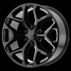 20x9 6x139.7 OE Creations Replica Wheels PR176 Gloss Black 24 offset 78.3 hub
