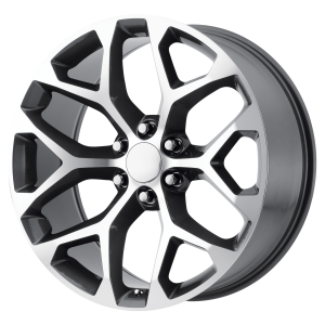 20x9 6x139.7 OE Creations Replica Wheels PR176 Gunmetal Machined 24 offset 78.3 hub
