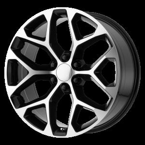 20x9 6x139.7 OE Creations Replica Wheels PR176 Gloss Black Machined 24 offset 78.3 hub