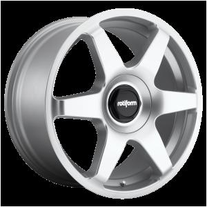 18x8.5 5x100/5x112 Rotiform Wheels R114 SIX Gloss Silver 35 offset 66.56 hub