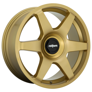 18x8.5 5x100/5x112 Rotiform Wheels R118 SIX Matte Gold 45 offset 66.56 hub