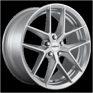 18x8.5 5x108 Rotiform Wheels R133 FLG Gloss Silver 45 offset 63.4 hub