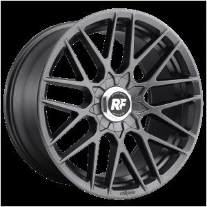 17x8 5x100 Rotiform Wheels R141 RSE Matte Anthracite 30 offset 70.1 hub
