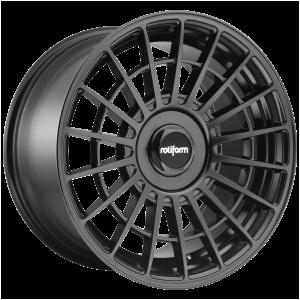 17x8 4x100/4x114.3 Rotiform Wheels R142 LAS-R Matte Black 30 offset 70.1 hub
