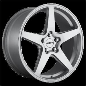 18x8.5 5x112 Rotiform Wheels R147 WGR Gloss Silver 45 offset 66.56 hub