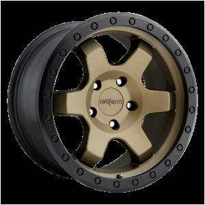 17x9 5x127 Rotiform Wheels R150 SIX-OR Matte Bronze Black Bead Ring 1 offset 71.5 hub