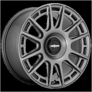 18x8.5 5x100/5x112 Rotiform Wheels R158 OZR Matte Anthracite 35 offset 66.6 hub