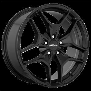 19x8.5 5x112 Rotiform Wheels R171 HUR Matte Black 45 offset 66.56 hub