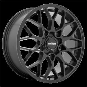 19x10 5x112 Rotiform Wheels R190 Matte Black 40 offset 66.56 hub