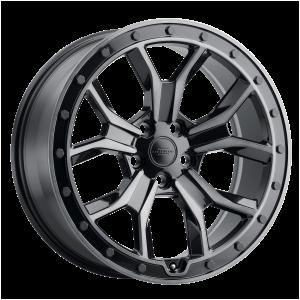 18x8.5 5x120 RedBourne Wheels Morland Gloss Metallic With Black Brushed Tint Face 25 offset 72.56 hub