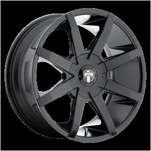 20x8.5  DUB Wheels S110 Push Gloss Black 10 offset 72.56 hub
