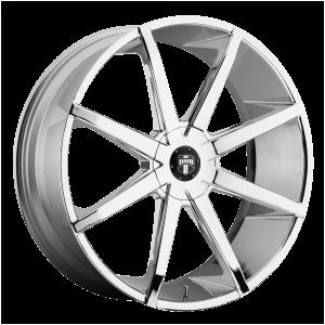 24x9.5  DUB Wheels S111 Push Chrome Plated 10 offset 78.1 hub