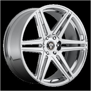 22x9.5 6x139.7 DUB Wheels S122 Skillz Chrome Plated 30 offset 78.1 hub
