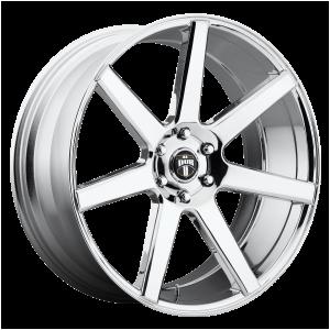 22x9.5 6x139.7 DUB Wheels S126 Future Chrome Plated 19 offset 106.1 hub