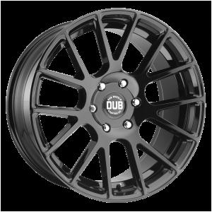 20x9 5x139.7 DUB Wheels S205 Luxe Gloss Black 25 offset 78.1 hub