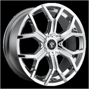 22x9.5  DUB Wheels S207 Royalty Chrome Plated 10 offset 78.1 hub