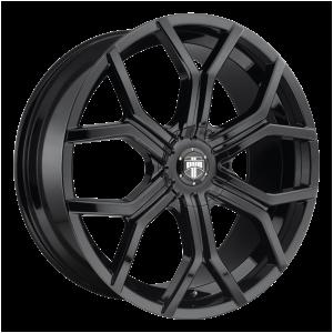 22x9.5  DUB Wheels S208 Royalty Gloss Black 10 offset 78.1 hub
