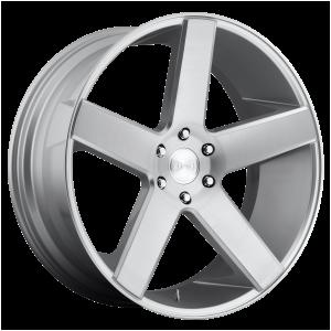 22x9.5 5x127 DUB Wheels S218 Baller Gloss Silver Brushed 11 offset 78.1 hub