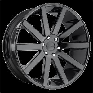 22x9.5 6x139.7 DUB Wheels S219 Shot Calla Gloss Black 20 offset 106.1 hub