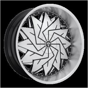 26x10  DUB Wheels S234 Dazr Gloss Black Machined 5 offset 72.56 hub