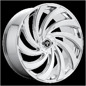 24x10  DUB Wheels S238 Delish Chrome Plated 5 offset 72.56 hub