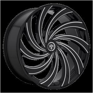 24x10  DUB Wheels S239 Delish Gloss Black Milled 5 offset 72.56 hub