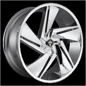 22x9.5  DUB Wheels S246 Fade Chrome Plated 10 offset 78.1 hub