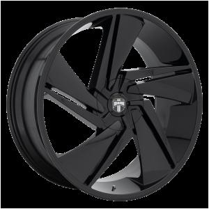 22x9.5  DUB Wheels S247 Fade Gloss Black 10 offset 78.1 hub