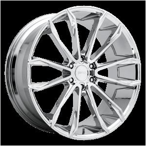 24x10 6x135 DUB Wheels S251 Clout Chrome Plated 30 offset 87.1 hub