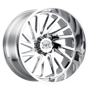 20x12 5x127 Tuff Wheels T2A Chrome -45 offset 71.5 hub