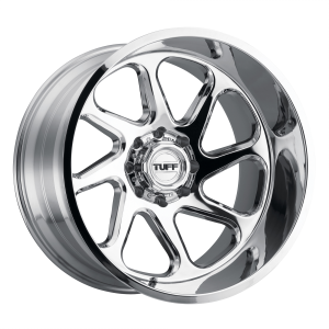 22x12 5x127 Tuff Wheels T2B Chrome - Directional -45 offset 71.5 hub