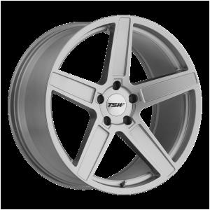 17x8 5x100 TSW Wheels Ascent Matte Titanium Silver 35 offset 72.1 hub