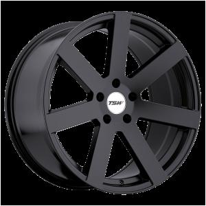 17x8 5x100 TSW Wheels Bardo Matte Black 35 offset 72.1 hub